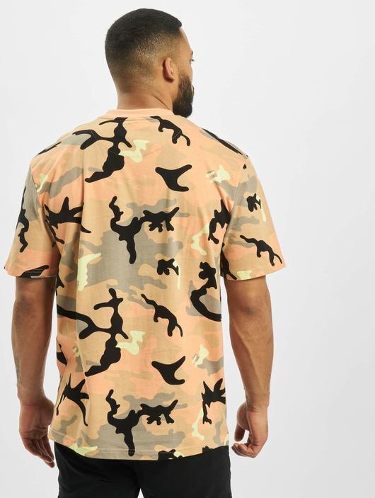 Karl Kani Signature Camo T-Shirt Camel/Black/Coral/Yellow image number 1