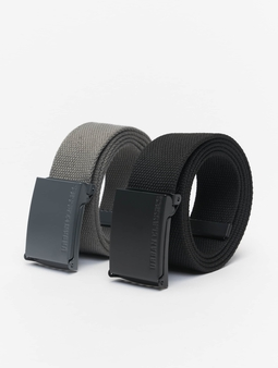 Urban Classics Colored Buckle Canvas 2-Pack Belt