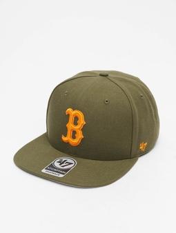 '47 MLB Boston Red Sox No Shot Captain Snapback Cap Sandalwood