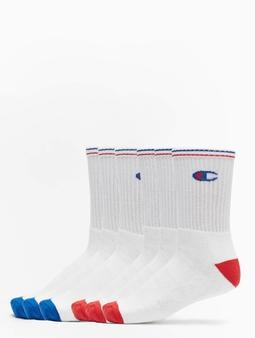 Champion Underwear X6 Crew 6er-Pack Sokker hvit