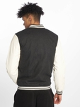 Urban Classics Oldschool College Jacket Charcoal/White (M gr image number 1