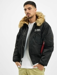 Alpha Industries 45P Hooded Custom Bomber Jacket Black/Refle image number 0
