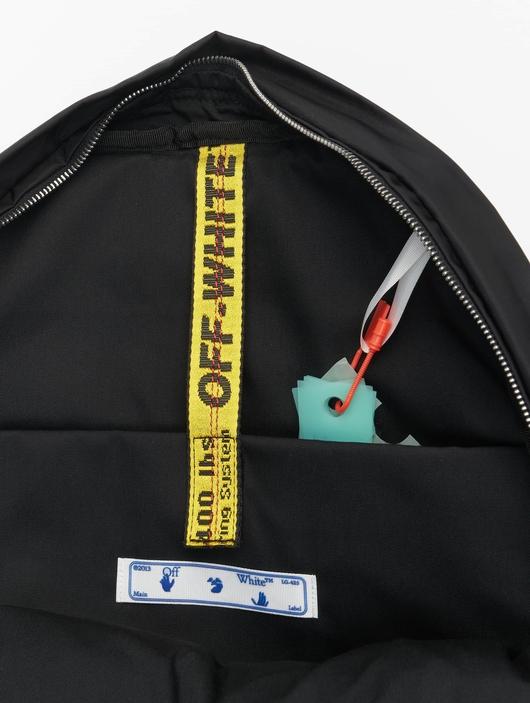 Off White Backpack Black White image number 7