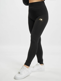 Alpha Industries Basic Sl Foil Print Leggings Black/Metalsilvern