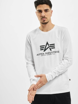 Alpha Industries Basic  Langermet hvit