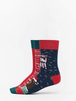 Urban Classics Christmas Socks Set Bear