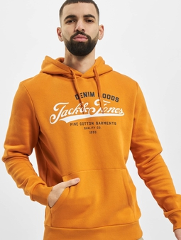 Jack & Jones jjeLogo Noos Sweat Hoody Spicy Mustard/Fit Reg