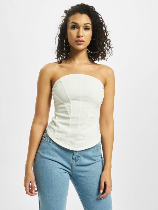 Missguided Jersey Bandeau Corset Body Cream image number 2