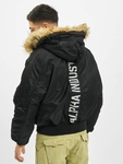 Alpha Industries 45P Hooded Custom Bomber Jacket Black/Refle image number 1