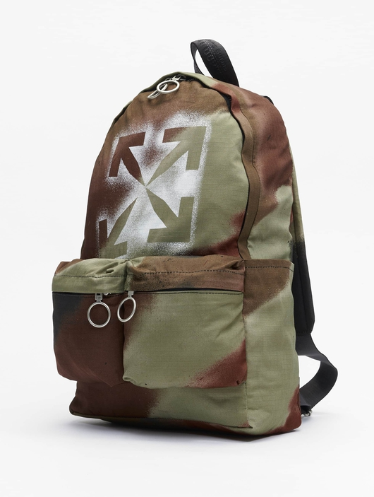 Off White Backpack Camo Brown image number 1