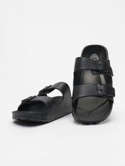 Urban Classics Gum Slippers Black