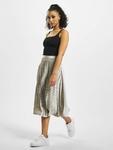 Missguided Tall Velvet Pleated Midi Skirt Silvern image number 4