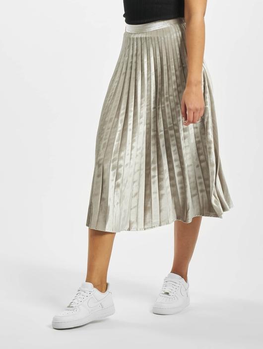 Missguided Tall Velvet Pleated Midi Skirt Silvern image number 0