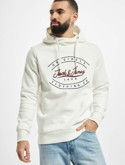 Jack & Jones jorStationary Sweat Hoody Cloud Dancer/Reg