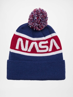 Mister Tee Nasa Beanie Blue/Red/Wht