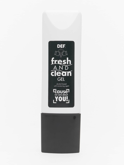 DEF Fresh And Clean Gel Hand Cleaner //  Warning: only by standard shipping and only to Germany Other hvit