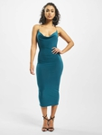 Missguided Slinky Chain Detail Cowl Midi Dress Teal image number 0