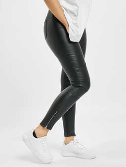 Missguided Vice Double Popper Coated Biker Skinny Jeans