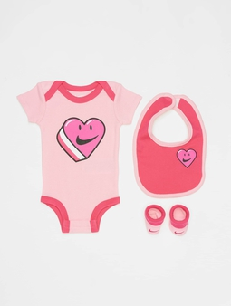Nike Have A Nike Day Heart Bib/Bodysuit/Bootie 3 Pieces