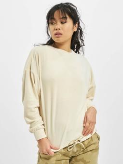 Urban Classics Oversized Velvet Sweater Sand