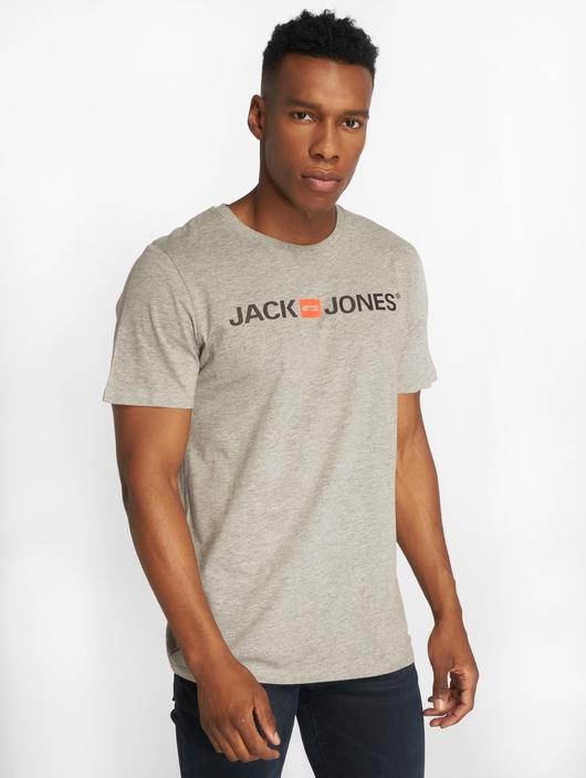 Jack & Jones jjeCorp Logo T-Shirt Light Grey Melange image number 0