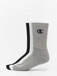 Champion X3 Legacy Crew Socks White One Color Logo