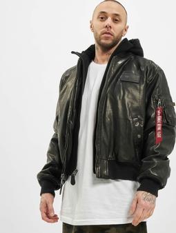 Alpha Industries MA-1 D-Tec FL Leather Jacket