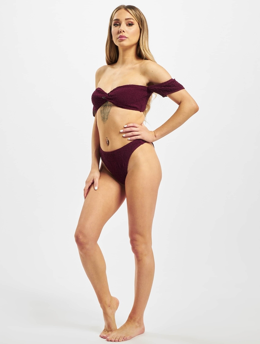 Missguided Crinkle Milkmaid And Bottoms Bikinis image number 4