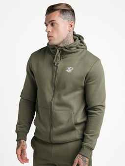 Sik Silk Zip Through Funnel Neck Hoody