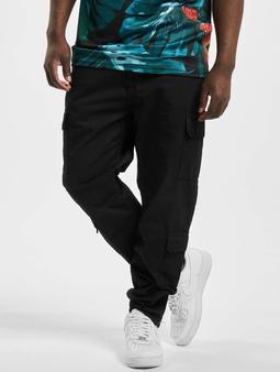 Urban Classics Tapered Double Chino bukser svart