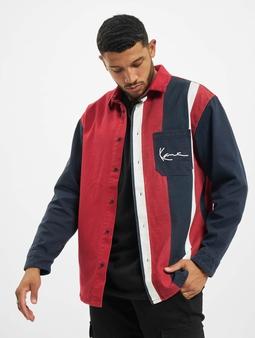 Karl Kani Kk Small Signature Block Stripe Skjorter blå
