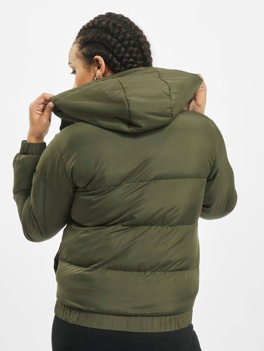Urban Classics Hooded Puffer Jacket Dark Olive image number 1