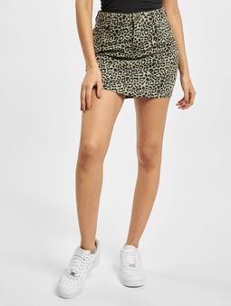 Urban Classics Ladies AOP Twill Mini Skirt Grey Leo