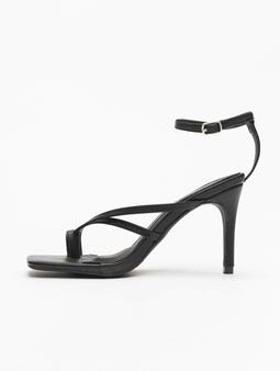 Missguided Cross Toe Post Low Heel Sandals