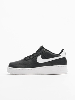 Nike Air Force 1 (GS) Sneakers Black/Metalic Golden Star