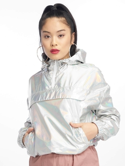 Urban Classics Holographic Pull Over Jacket Silverholographic
