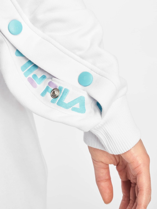 Fila Urban Line Buttoned Justyna Sweatshirt Bright White/Blue Curacao image number 4