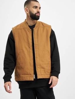 Dickies Sherpa Lined Vest Transition Jacket Brown Duck