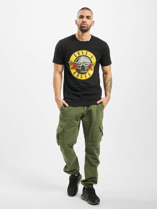 Mister Tee GunsÁn Roses Logo T-Shirt Black image number 3