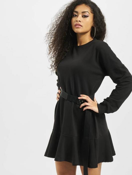 Missguided Frill Hem Sweater Dress Black image number 0