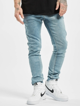 Urban Classics Slim Fit Zip Jeans Lighter Washed