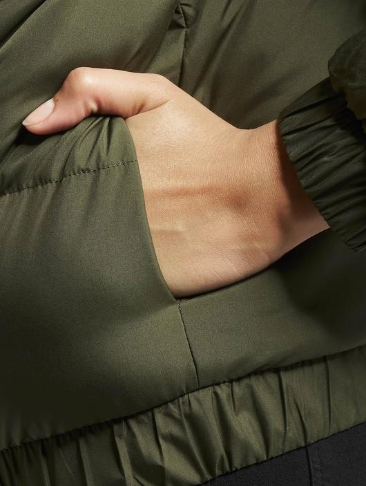 Urban Classics Hooded Puffer Jacket Dark Olive image number 5