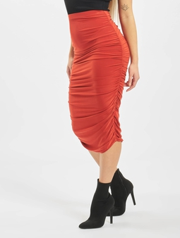 Missguided Petite Slinky Rouched Midi Skirt