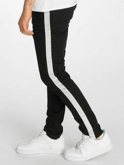 Criminal Damage Tape Skinny Jeans Black/Ecru