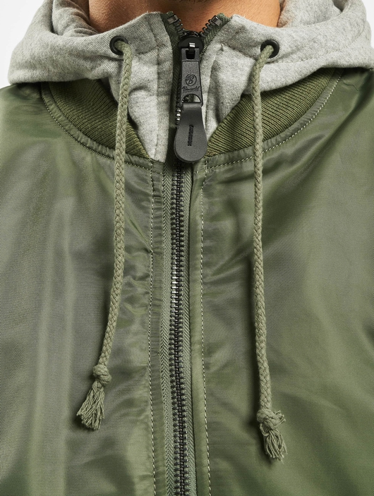 Brandit MA1 Sweat Zip Hoody Olive/Grey image number 5
