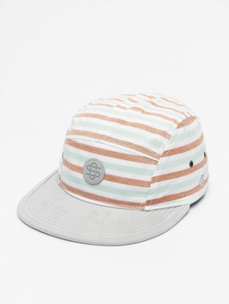 Cayler & Sons CL Inside Printed Stripes 5 Panel Snapback Cap Wht/Gry
