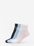 Reebok Classic FO Ankle 3 Pack Socks Collegiate Navy/Fluid Blue/Posh Pink image number 0