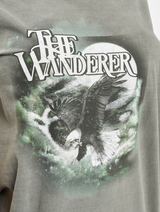 Missguided The Wanderer Eagle Graphic T-Shirt Dark Grey image number 3