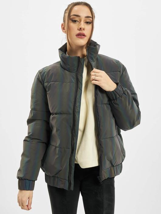 Urban Classics Ladies Iridescent Reflectiv Puffer Jacket Rainbow Darksilver image number 0