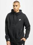Nike Club Hoodie Full Zip Black/Black/White image number 2